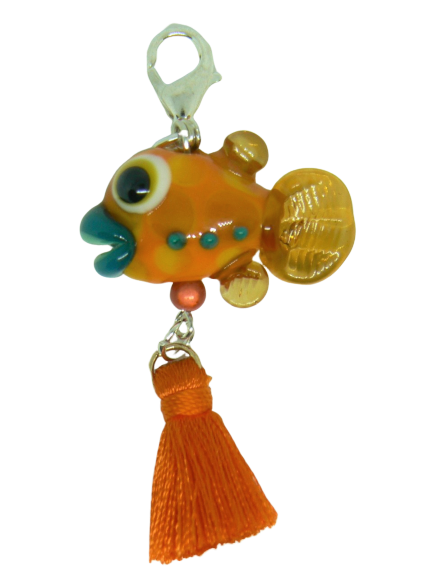 Breloque Poisson orange